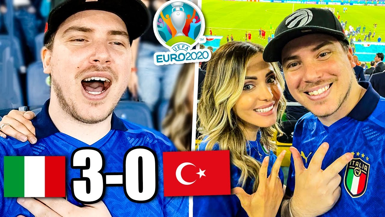 ITALIA vs TURCHIA 3-0 - REAZIONE EURO 2020 dallo Stadio! (sono sceso in campo!!)