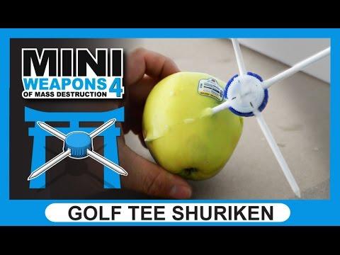 Golf Tee Shuriken | Mini Weapons of Mass Destruction | how to make ninja star
