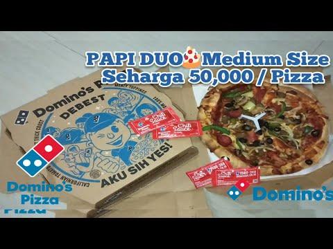 DOMINO's PIZZA PAPI DUO – Harga 50.000 I Paket 2 Medium Pizza Bebas Pilih Toping & Roti