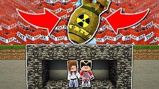 BOMBE NUCLÉAIRE VS MON BUNKER MINECRAFT !
