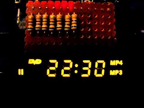 Project: Arduino Clock with DVD Player LED Display | Gough's
