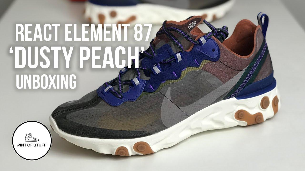 precio razonable materiales superiores seleccione para mejor SOCK MONSTER - Nike React Element 87 'Dusty Peach' Sneaker Unboxing. -  YouTube