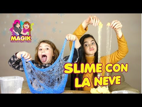 COME FARE LO SLIME DI NEVE ! Snow Slime   by Marghe Giulia Kawaii