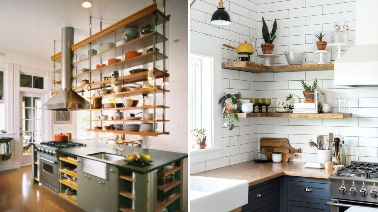 10 Clever Kitchen Shelving Ideas For Living Your Kitchen Up Youtube