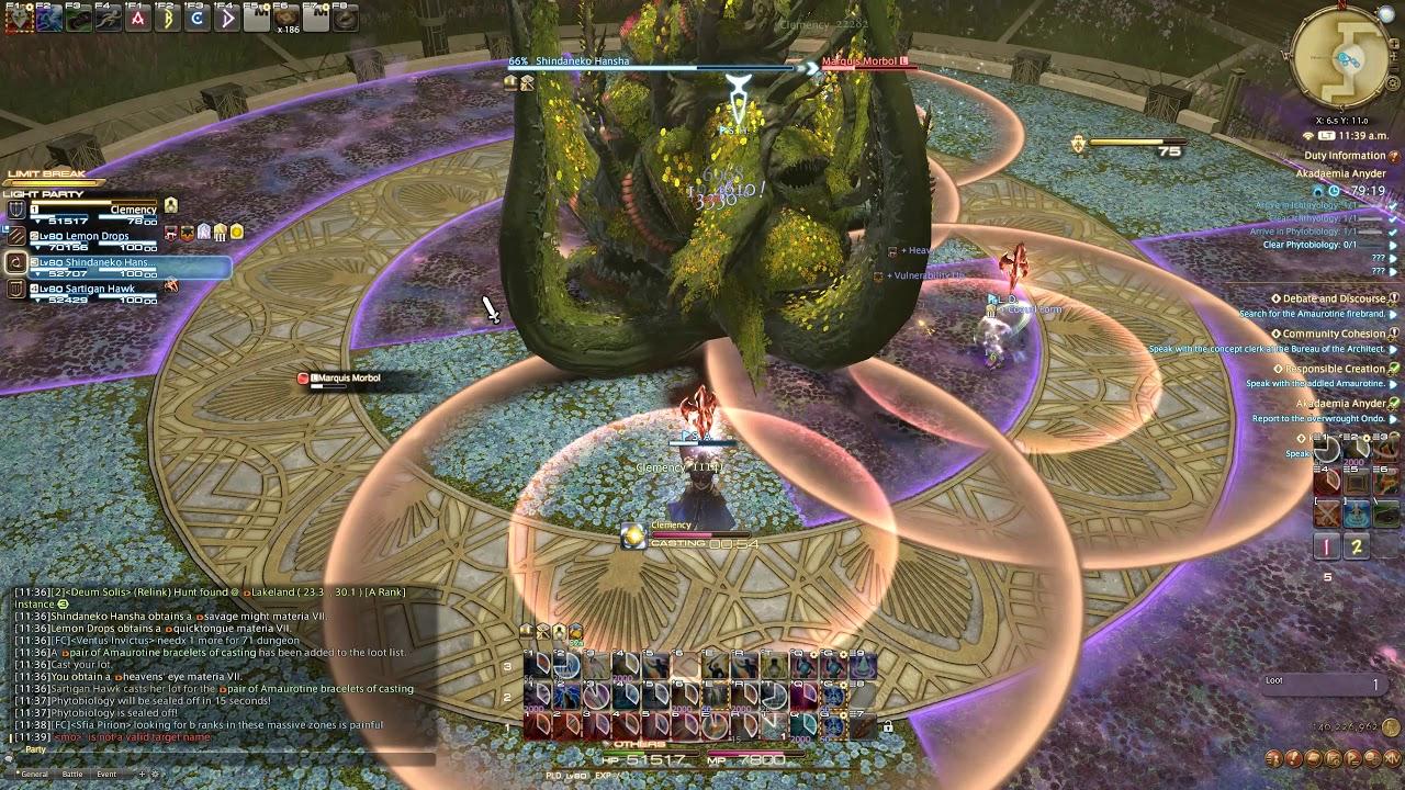 Final Fantasy XIV: Shadowbringers Akadaemia Andyr 1 PLD 3 DPS run