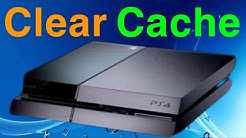 PS4 How to Clear Cache NEW!
