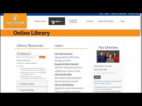 SUNY Empire State College Online Library Tour