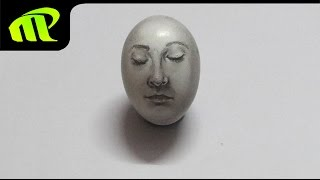 Drawing a Face of Egg - Simple Trick Art