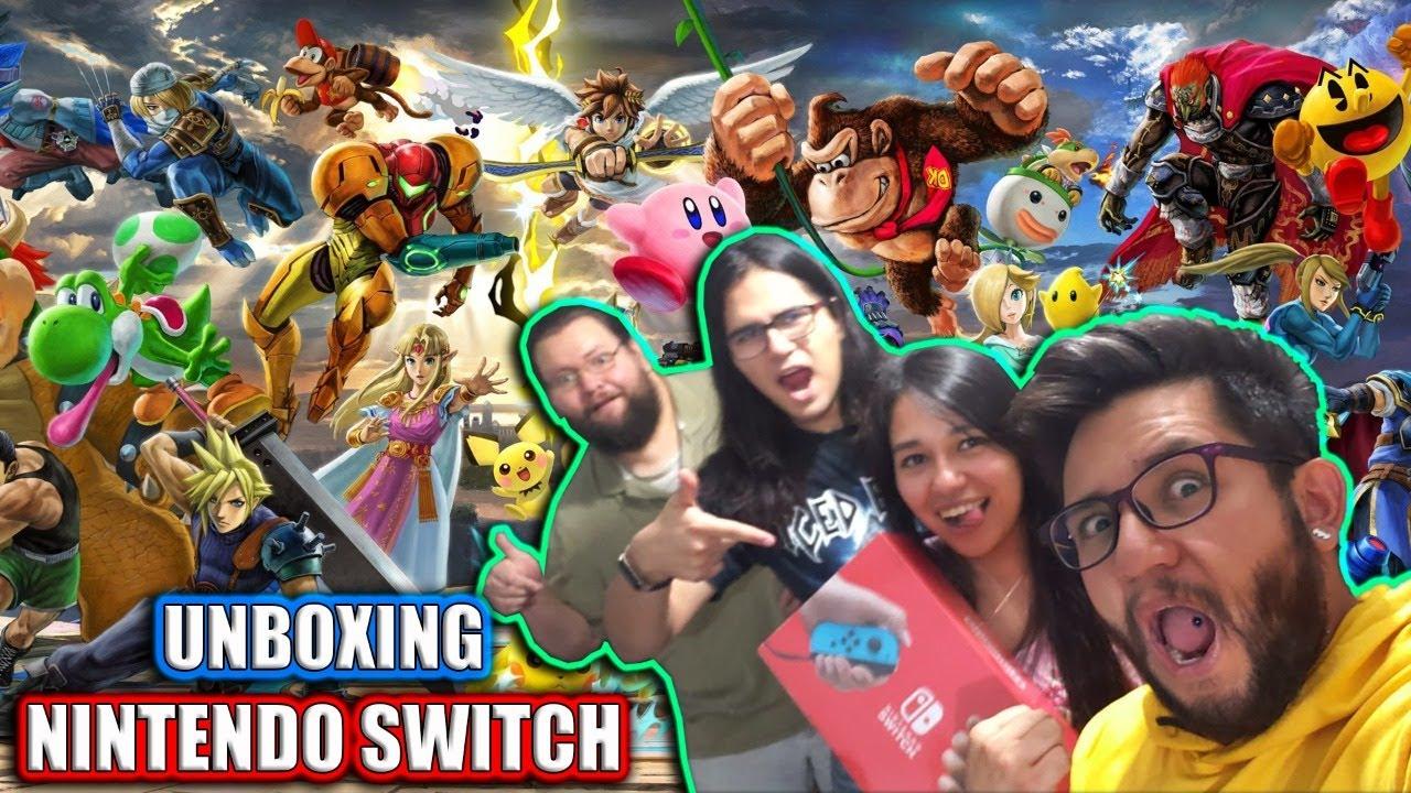 Unboxing de Nintendo Switch y el mito del sabor de los juegos! - YouTube