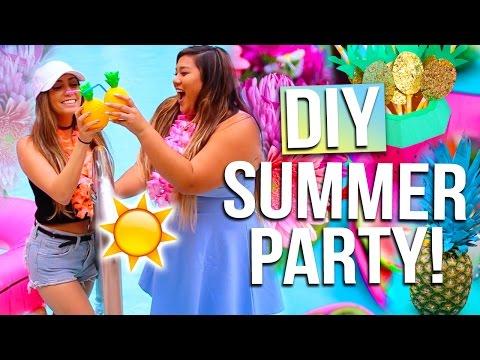 DIY SUMMER PARTY: Outfit Ideas, DIY Decor & Summer Essentials!