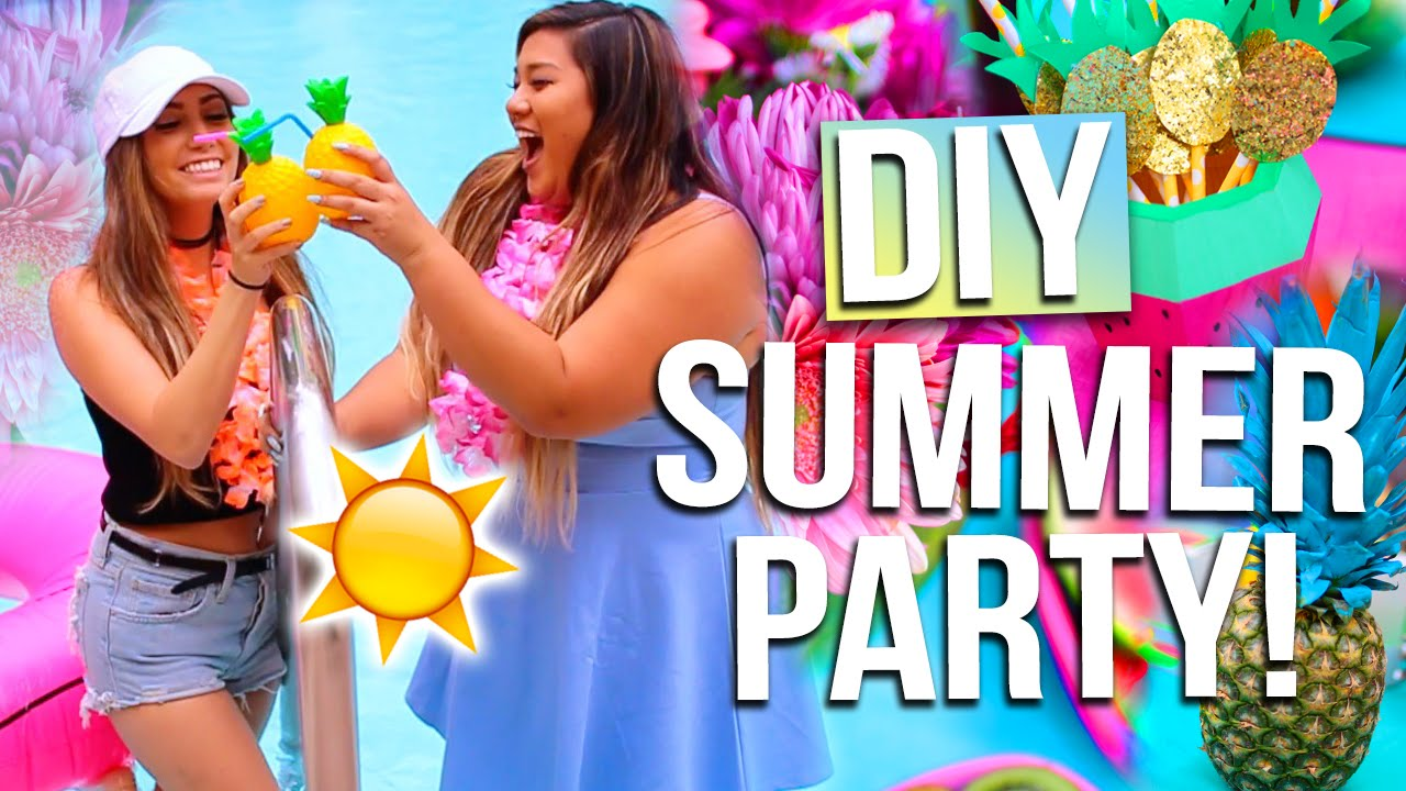 DIY SUMMER PARTY Outfit Ideas Decor Summer Essentials