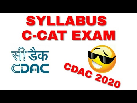 CDAC Exam: C-CAT Syllabus and Exam Tips