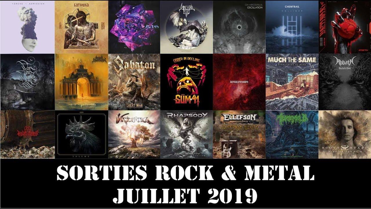 Sorties Albums Rock & Metal : Juillet 2019