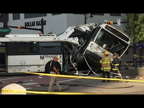 Two-bus NJ Transit crash in Newark