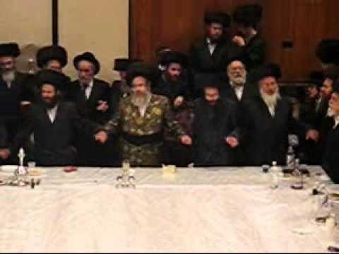 Purim celebrations at Sanz-Klausenberg synagogue in Boro Park, Brooklyn