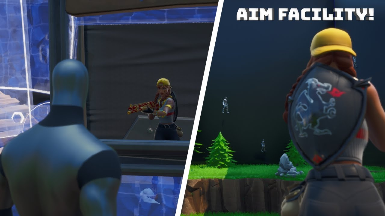 Fortnite Aim Facility Creative Mode Aim Course Youtube