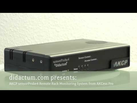 sensorProbe4 SNMP enabled Rack Monitoring System from AKCess Pro