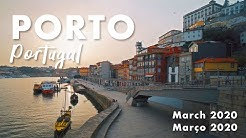 The Empty Streets of Porto, Portugal Filmed in March 2020