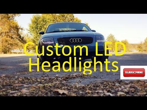 Custom LED Headlights Audi TT