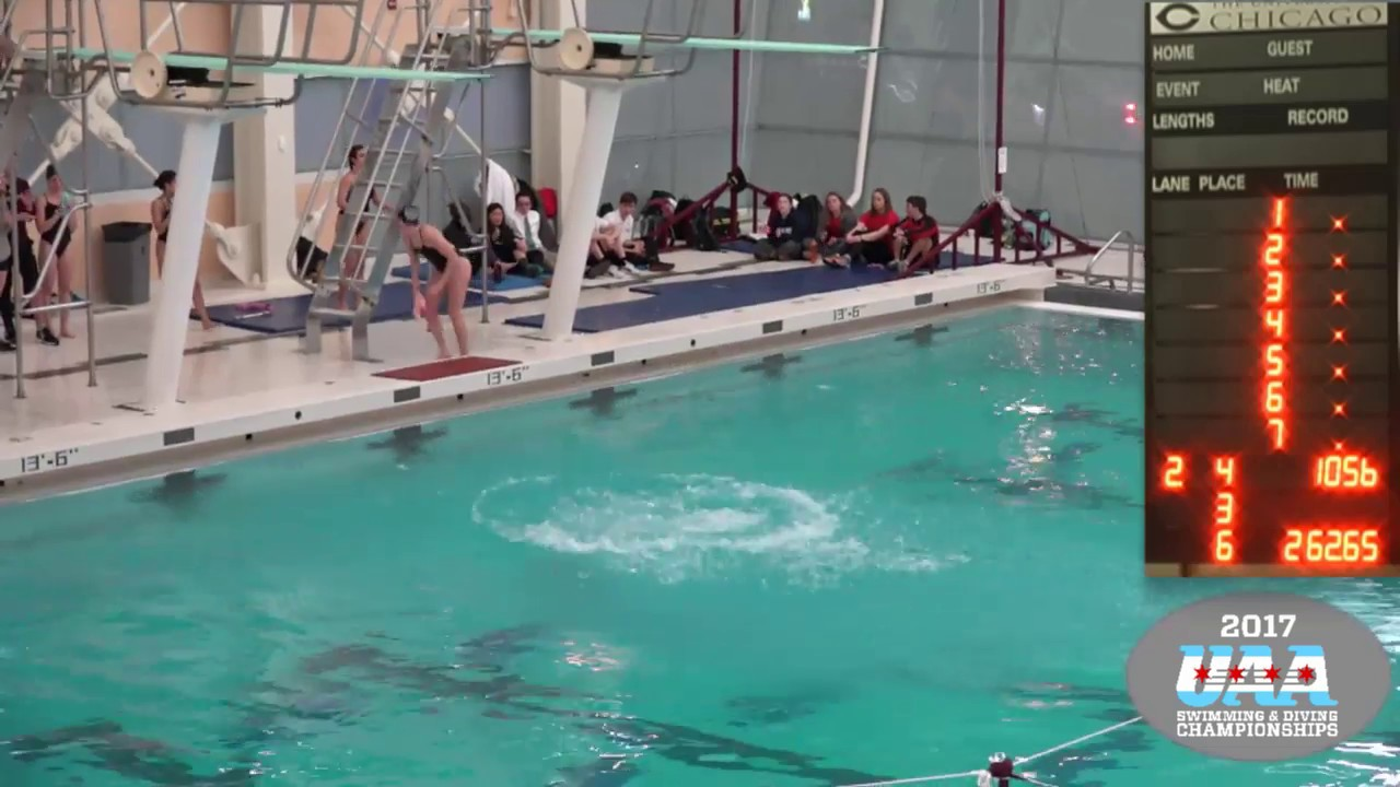 2017 uaa swim dive conf chams thurs finals youtube