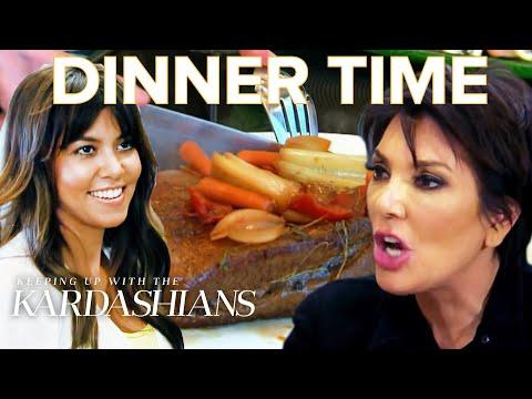Most Awkward Kardashian Family Dinners | KUWTK | E!