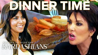 """The """"KUWTK"""" family always brings more than just food to the dinner table, like placenta, Kris' personal scribe, or a side of drama. Watch for the most awkward ..."""