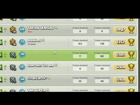 Clash Of Clans Invisible Name Trick.Must Watch