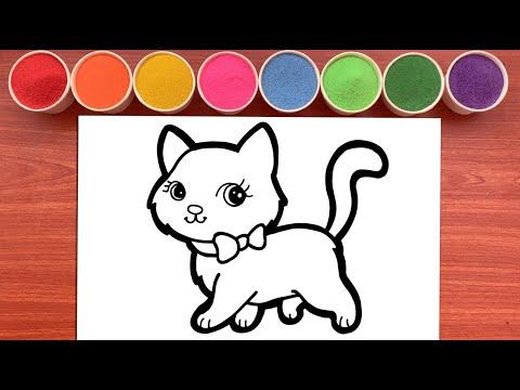 hqdefault - Tô Màu Tranh Cát Chú Mèo Con