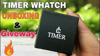 Giveaway 🔥🔥🔥|| Timer stylish sporty analog Whatch Unboxing and Giveaway 🔥🔥🔥