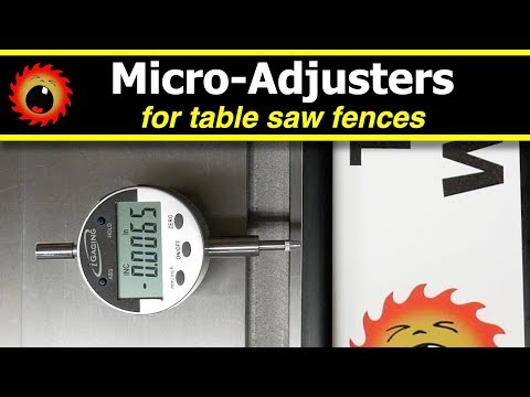 Micro Adjusters for Table Saw Fences - YouTube