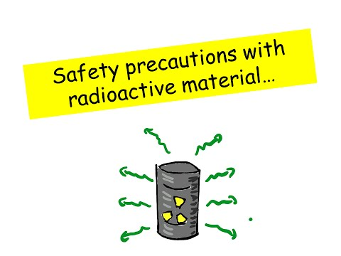 Safety Precautions with Radioactive Material - IGCSE Physics