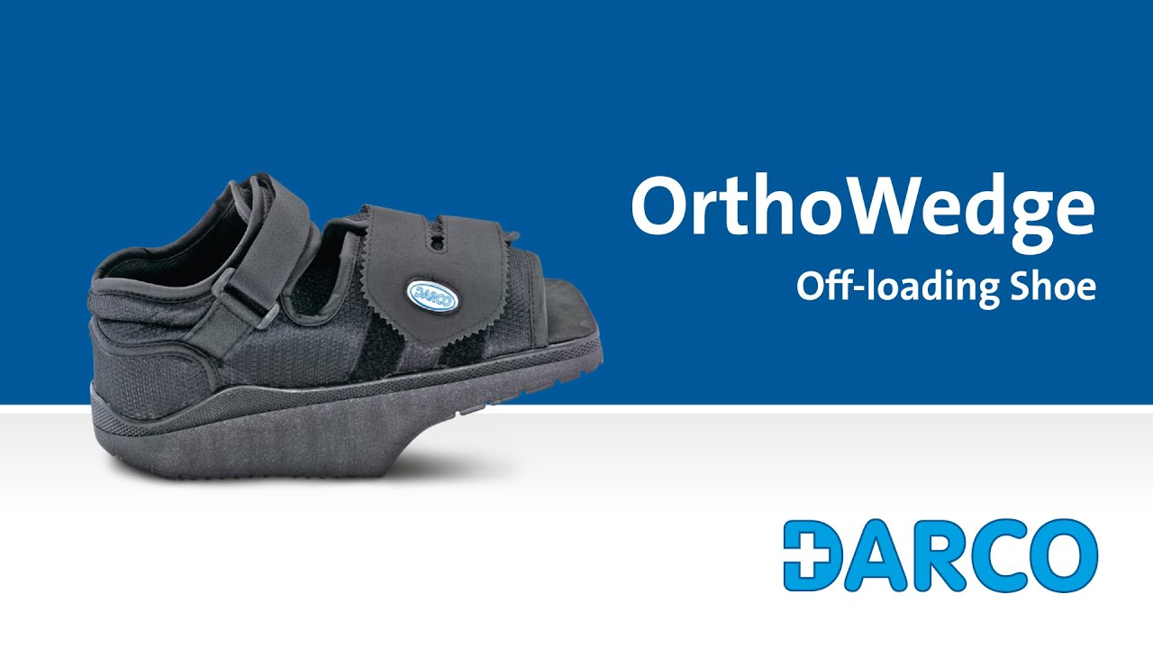 b1233663a05 OrthoWedge Forefoot Off-loading Shoe - How to walk properly in a forefoot  off-loading shoe. DARCO Europe