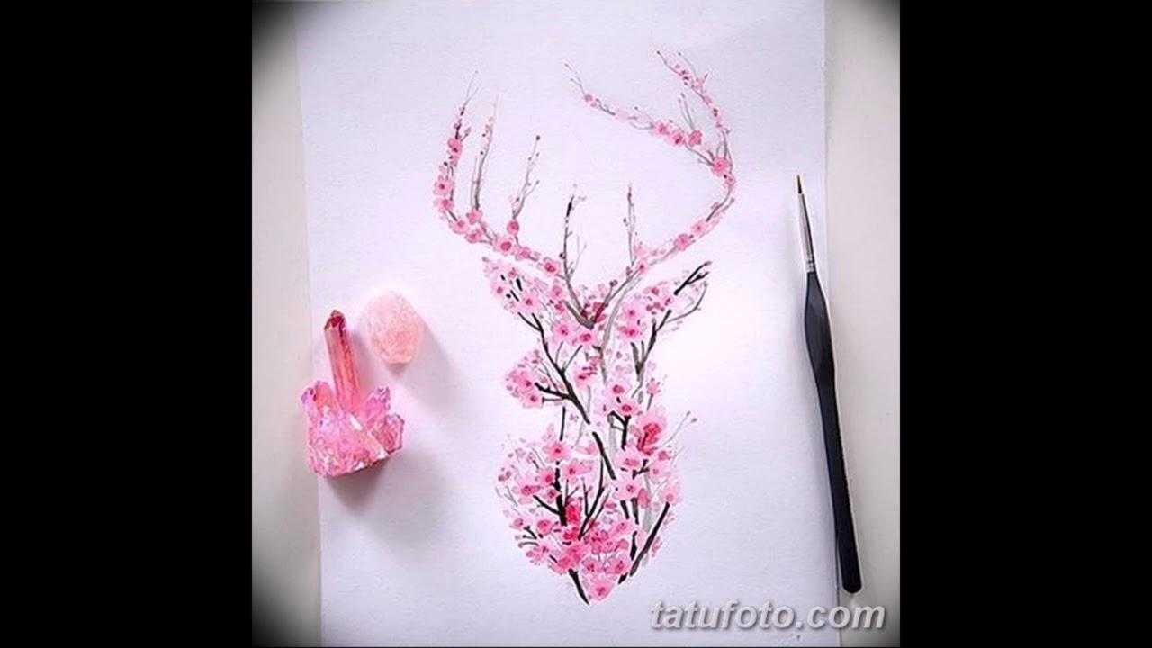 Эскизы тату Сакура - подборка рисунков для татуировки с сакурой