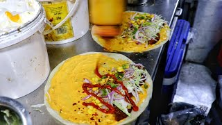 Mexican Style Frankie Making At Baroda Express Cafe | Veg Roll Recipe | Indian Street Food