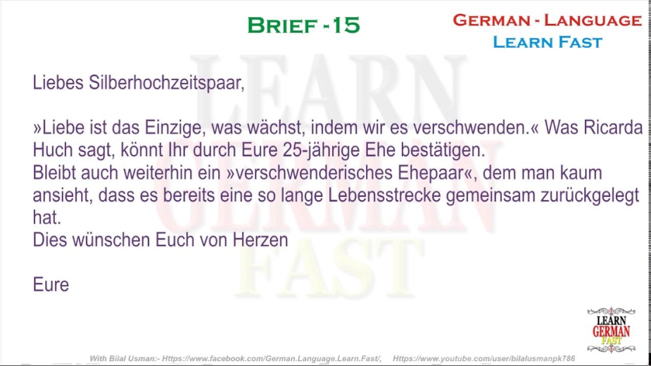 German Brief 15 A1 A2 B1 B2 C1 C2 Youtube