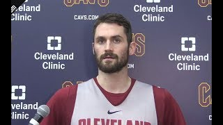Kevin Love On Being More Aggressive In Game 2 | Pacers vs Cavaliers | April 17, 2018