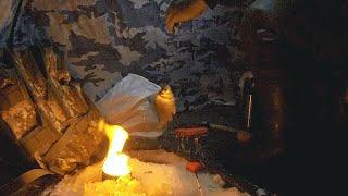 КАРАСЬ КЛЮЁТ ОДИН ЗА ОДНИМ Ловля карася зимой со льда Ночная рыбалка в палатке
