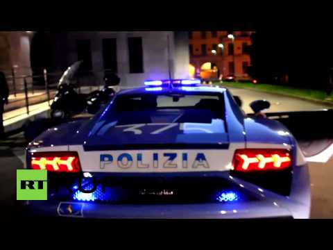 Italy: Police use Lamborghini sports car to transport organs in Milan