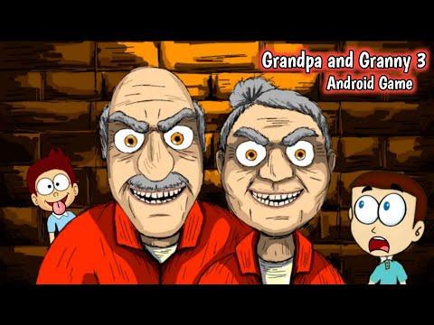 Grandpa And Granny 3 : First Gameplay And Over Scene | Shiva And Kanzo Gameplay