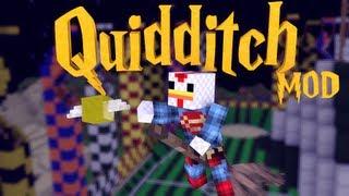 HARRY POTTER Mod: Minecraft Harry Potter Quidditch Mod Showcase!