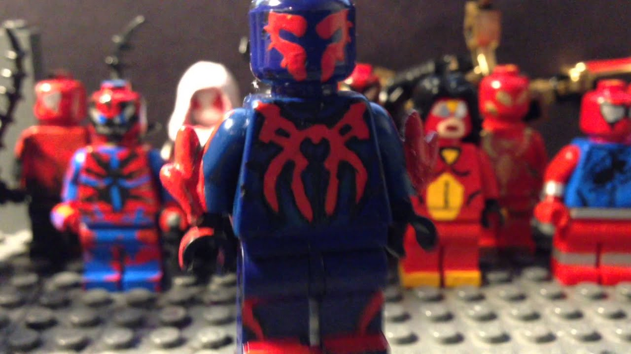 LEGO SPIDERMAN 2099 CUSTOM MINIFIG SHOWCASE - YouTube