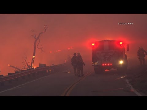 Creek Fire / Sylmar   RAW FOOTAGE