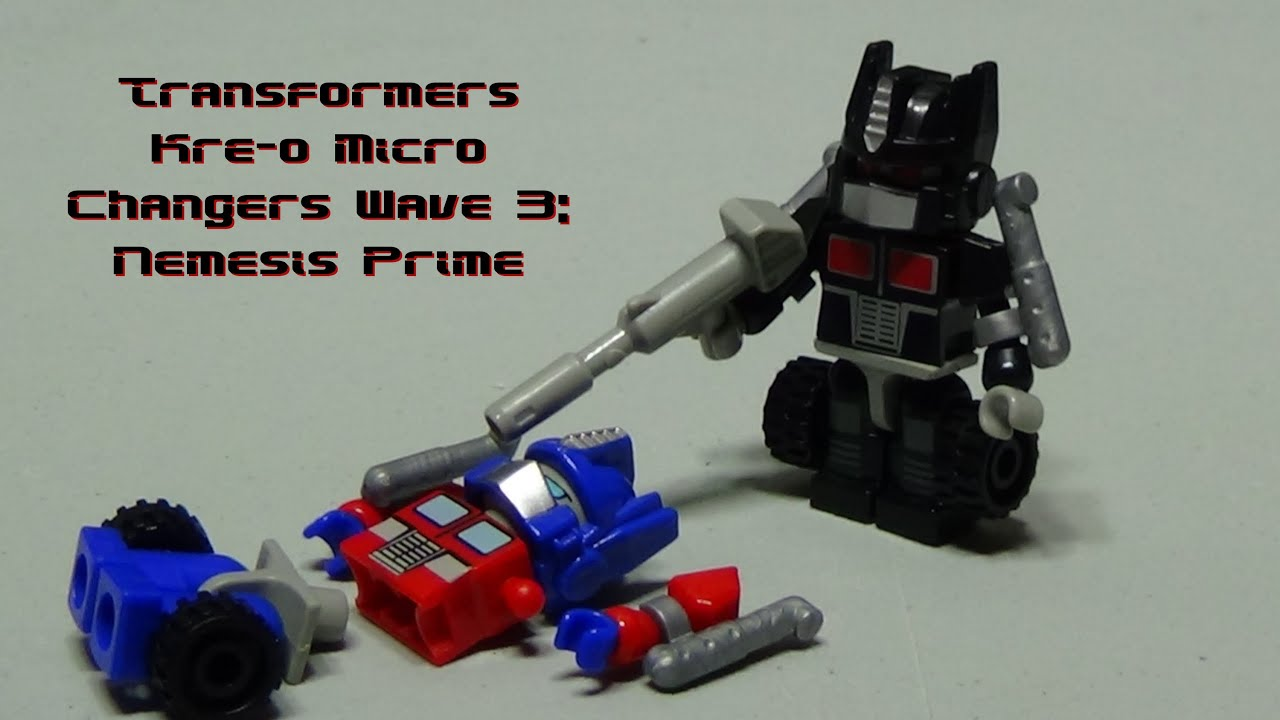 KRE-O TRANSFORMERS OPTIMUS PRIME 90 PIECE SET TOY REVIEW - YouTube