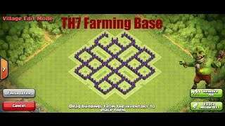 Clash Of Clans Speed Build|Best! TH7 Farming Base 2015