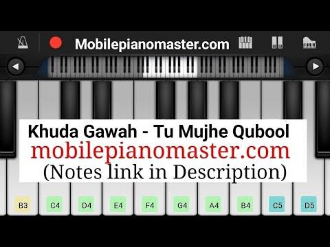 Khuda Gawah Piano (Tu mujhe qubool)Piano Keyboard|Piano Lessons|Piano Music|learn piano Online