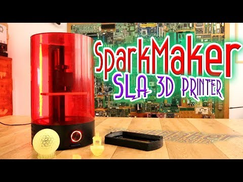 SparkMaker SLA 3D printer - review | test | low-cost