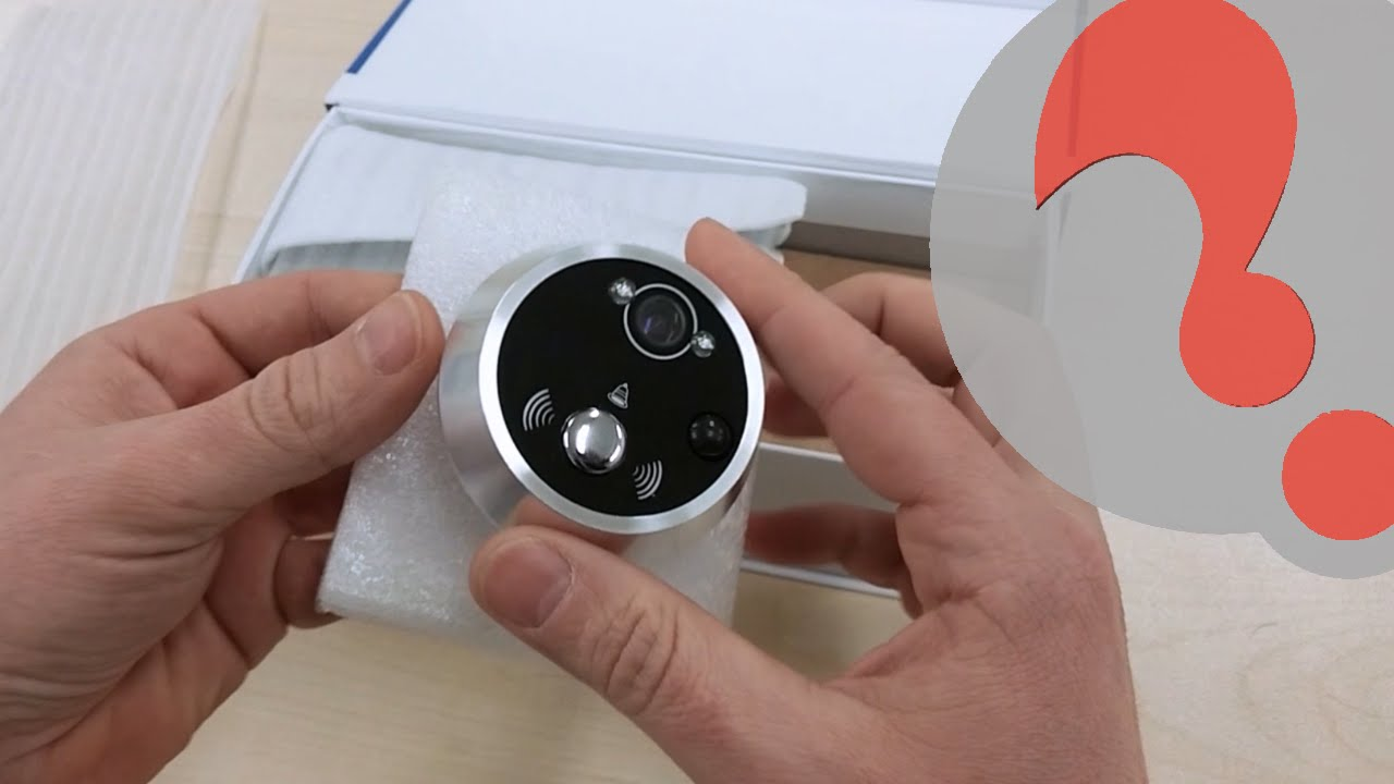 Motion Activated Digital Peephole Security Camera