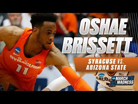 Syracuse\'s Oshae Brissett finishes with a double-double in First Four win