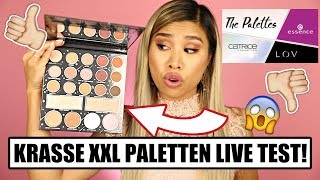 HEFTIGTE DROGERIE NEUHEITEN! l The Palettes - Essence Catrice & L.O.V. XXL Paletten! l  Beauty News