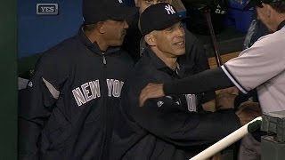 NYY@KC: Girardi notches 500th win as Yankees
